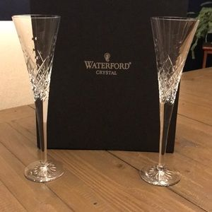 Waterford crystal toasting flutes